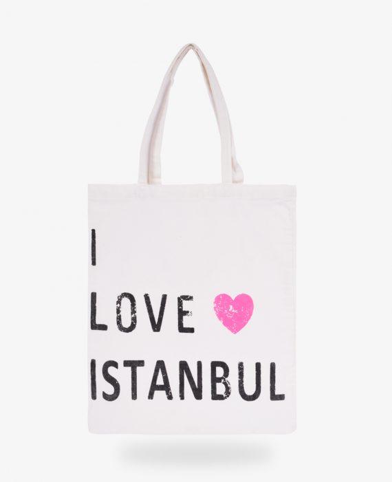I Love Istanbul Gabardin Çanta
